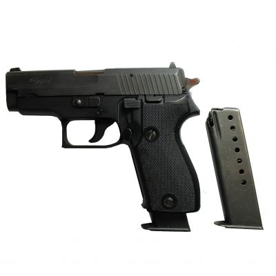 9mm Sig Sauer P-225 pistol. Used