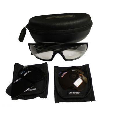 Gafas ESS 3 cristales (polarizado, oscuro, transparente). Ocasion