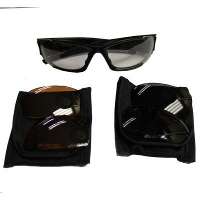 Gafas ESS 3 cristales (rojo, oscuro, transparente). Ocasion
