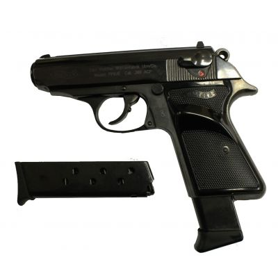 Pistol 9 short Walther PPK. Used