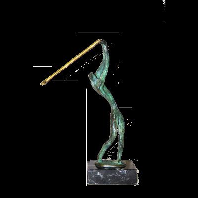 Golfer design bronze figure