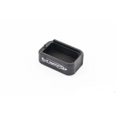 Base pad +2 black aluminum Tanfoglio Small Frame Toni System