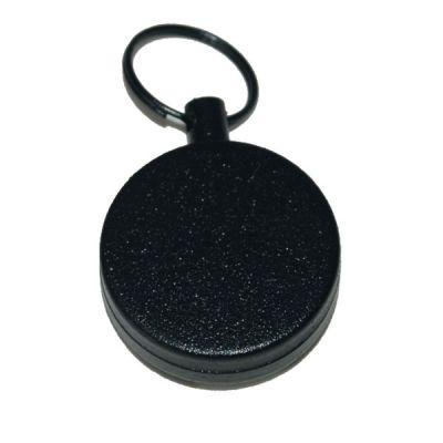 Extendable metallic black keychain