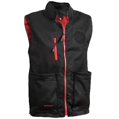 Chaleco XL Ghost IDPA negro c/ interior rojo