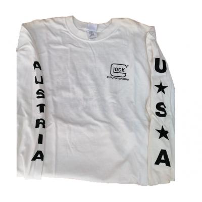 Glock white t-shirt m/long