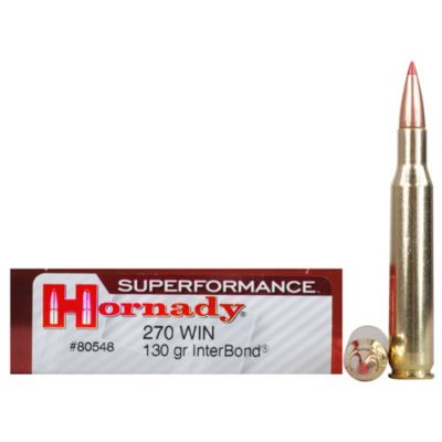 270 Win 130gr IB Superformance Hornady Cartridge