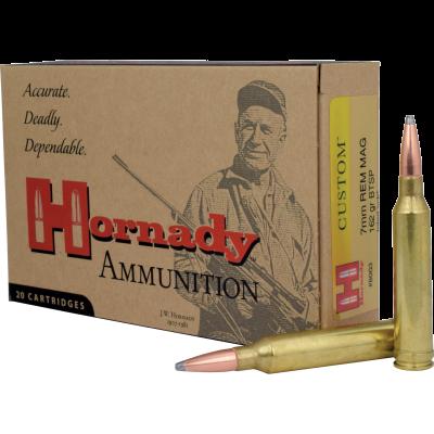 Cartridge 7mm Rem Mag 162gr BTSP Hornady