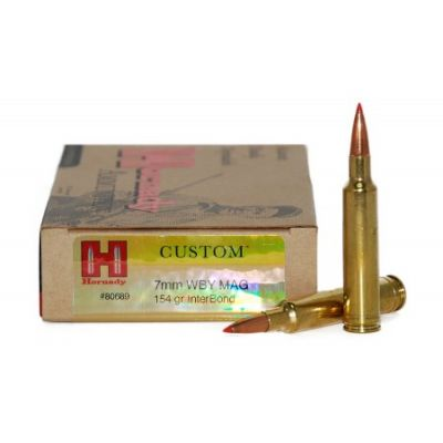 Cartridge 7mm Weatherby Mag 154gr IB Hornady