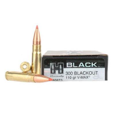 Cartridge 300 AAC Blackout 110gr V-Max Black Hornady