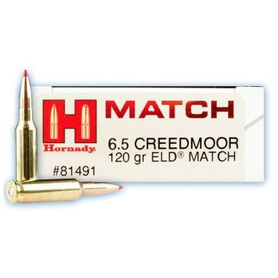 Cartucho 6,5 Creedmoor 120gr ELD Match Hornady