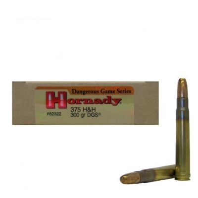 Cartridge 375 H&H 300gr DGS Hornady
