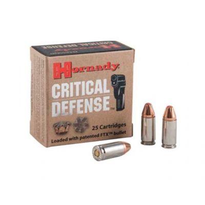 Cartridge 9 100gr FTX Critical Defense Hornady (25u)
