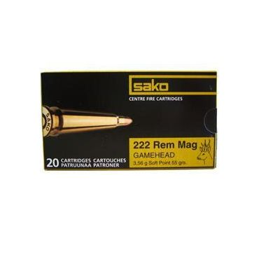 Cartucho 222 Rem Mag 55gr SP SAKO