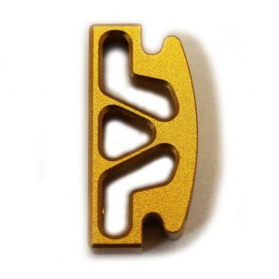 Pestaña recta dorada Bul 1