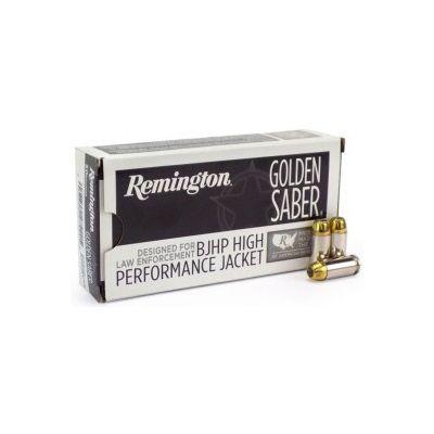 Cartucho 9 124gr BJHP Golden Saber Remington (50u)