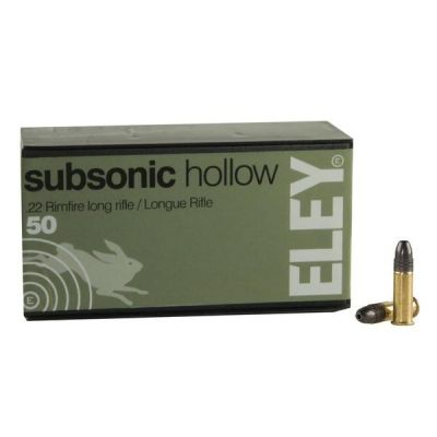 22 Eley Subsonic Hollow Cartridge