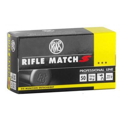 "Cartucho 22 RWS Rifle Match ""S"""