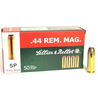 Cartridge 44 Rem Mag 240 S&B (50u)