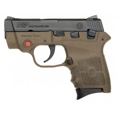 380 Bodyguard SW frame gun brown with laser