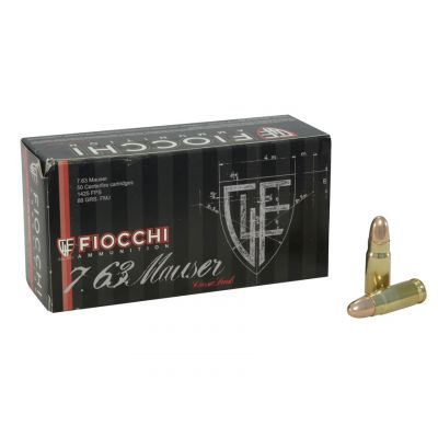Cartridge 7.63 Mauser 88gr Fiocchi