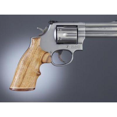 Grip revolver K / L dark wood square top HOGUE