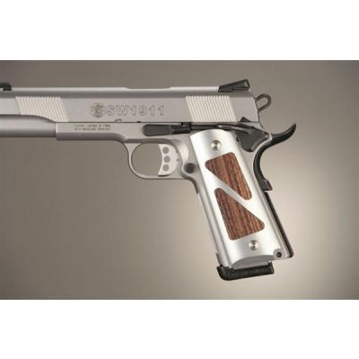 Cacha 1911 aluminio-madera oscura