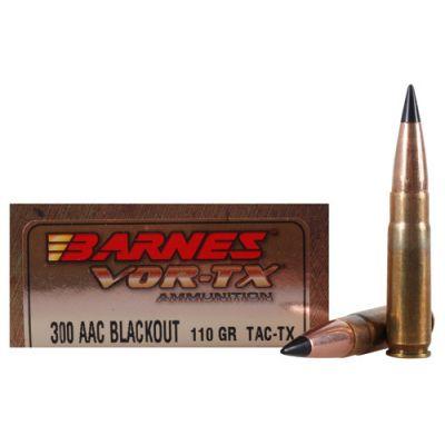 Cartridge 300 AAC 110gr Tac-Tx Barnes