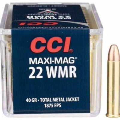 Cartucho 22 Magnum Maxi JHP CCI