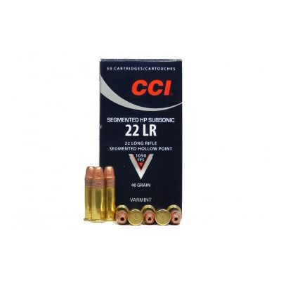 22 40gr HP CCI subsonic cartridge