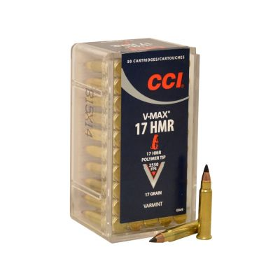 Cartucho 17 HMR 17gr CCI V-Max