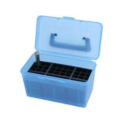 Caja MTM azul Cal. 300 a 500 con asa (50 cart.)