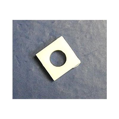 White plastic powder measure system