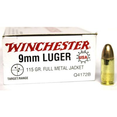 Cartridge 9 FMJ Win 50u. 115gr
