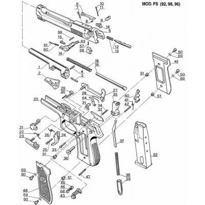 Grip Beretta 92 plastic