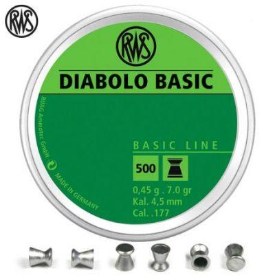 Balines 4,5 Diabolo Basic R10 RWS (500u)