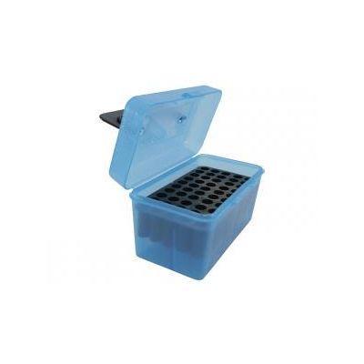 Caja MTM azul 264W a 458 Win Magnum con asa (50 cart.)