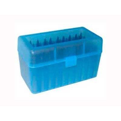Caja MTM azul Cal. 22-250 a 8mm (50 cart.)