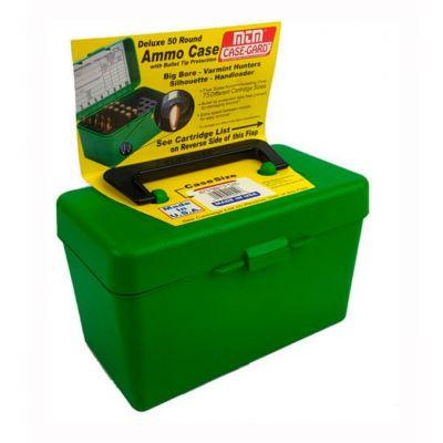 Caja MTM verde 264W a 458 Win Magnum con asa (50 cart.)