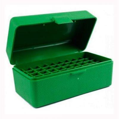 Caja MTM verde Cal. 22-250 a 8mm (50 cart.)