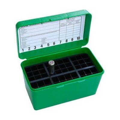 Caja MTM verde Cal. 300 a 500 con asa (50 cart.)
