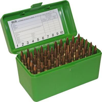 Caja MTM verde Cal. Magnum (50 cart.)