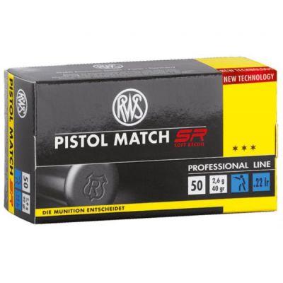 Cartucho 22 RWS Pistol Match SR