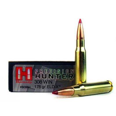 Cartucho 308 Win 178gr ELDX Precision Hunter Hornady