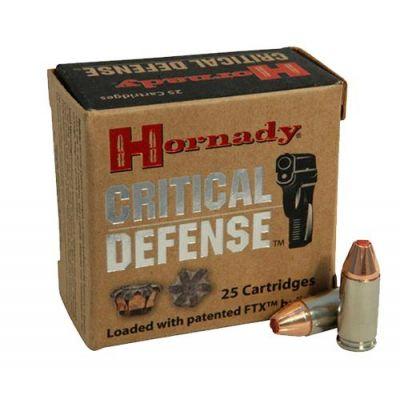 Cartridge 9 115gr FTX Critical Defense Hornady (25u)