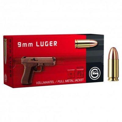 Cartridge 9 124gr FMJ Geco (50 units)