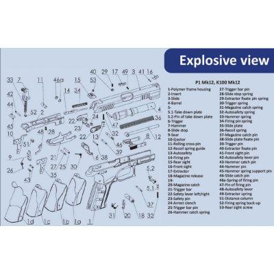 Muelle retenida cargador pistola MK-12 GRAND POWER