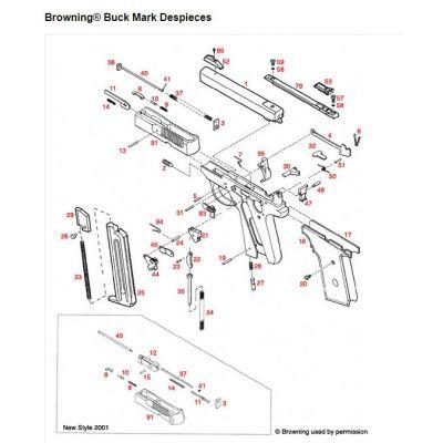 Pieza nº 43 pistola cal. 22 Buck Mark BROWNING