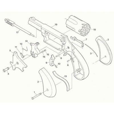 Pasador (pieza 6) revolver NAA