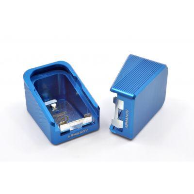 Tapa cargador +2 azul Glock Armanov