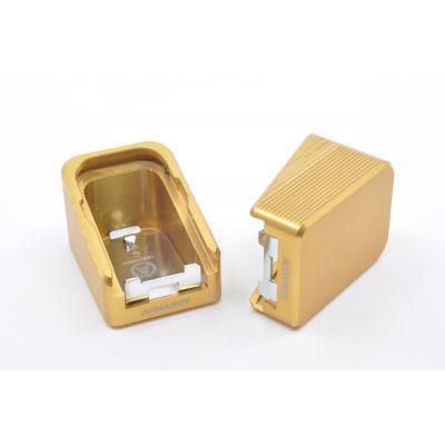 Base pad +2 gold Glock Armanov